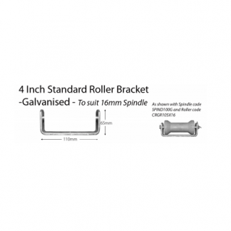 "Boat Roller Bracket - Standard - 4"""