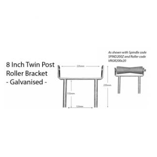 "Boat Roller Bracket - Post - 8"""
