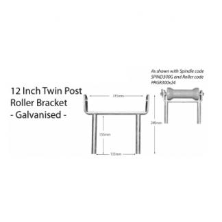 "Boat Roller Bracket - Post - 12"""