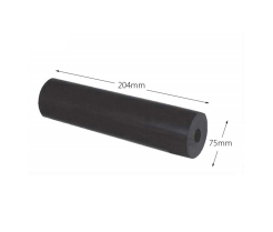 """8"""" Parallel Boat Rollers - Rubber (17mm Bore)"""