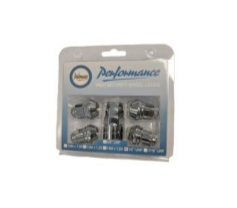 Chrome Lock Nut Set - 1/2""
