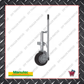 Easy Mover Jockey Wheel - Single Solid Rubber Wheel - Clamp On