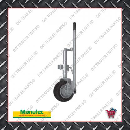 Easy Mover Jockey Wheel - Single Solid Rubber Wheel - Clamp On