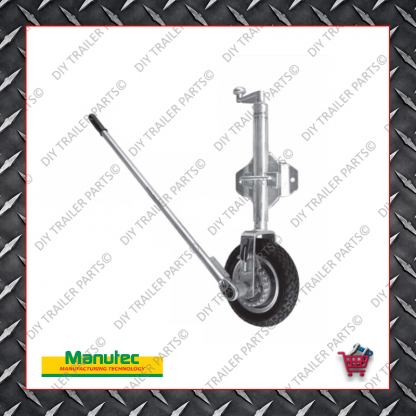 Easy Mover Jockey Wheel - Single Solid Rubber Wheel - Swivel Bolt On