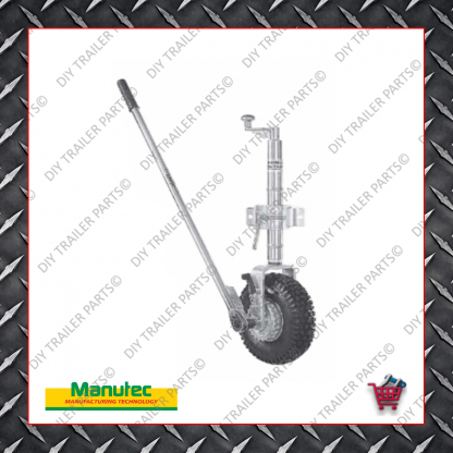 Easy Mover Jockey Wheel - Single Pneumatic Wheel - Clamp On