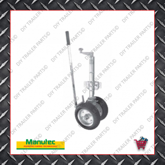 Easy Mover Jockey Wheel - Twin Solid Rubber Wheels