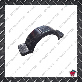"Trailer Mud Guard - Plastic - Black (Suits 13"" to 14"")"