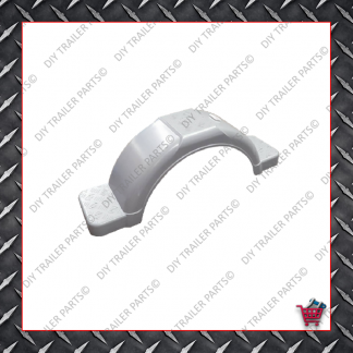 "Trailer Mud Guard - Plastic - Grey (Suits 13"" to 14"")"