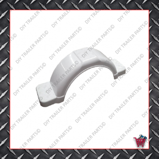 "Trailer Mud Guard - Plastic - White (Suits 13"" to 14"")"