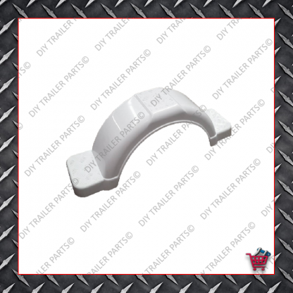 """Trailer Mud Guard - Plastic - White (Suits 13"""" to 14"""")"""
