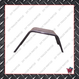 "Trailer Mud Guard - Single Axle - Smooth Steel (Suits 13"" to 14"")"