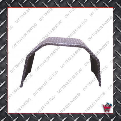"""Trailer Mud Guard - Single Axle - Checkerplate (Suits 15"""" to 16"""")"""