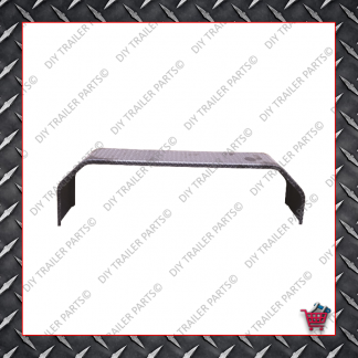 """91"""" Trailer Mud Guard - Tandem Axle - Checkerplate (Suits 13"""" to 14"""") (Galv)"""
