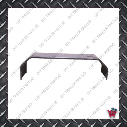 """91"""" Trailer Mud Guard - Tandem Axle - Checkerplate (Suits 13"""" to 14"""")"""