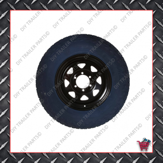 "15"" Landcruiser 6 Stud Trailer Rim & Tyre 235R15A/T - Black"
