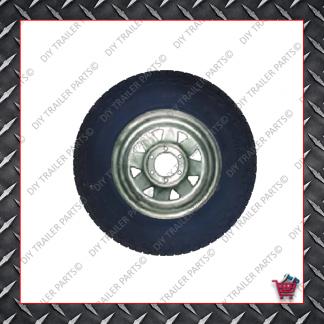 "15"" Landcruiser 6 Stud Trailer Rim & Tyre - 235R15A/T - Glavanised"