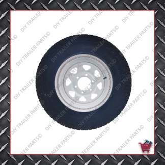 """15"""" Ford 5 Stud Trailer Rim & Tyre - 235R15A/T 10 Ply"""
