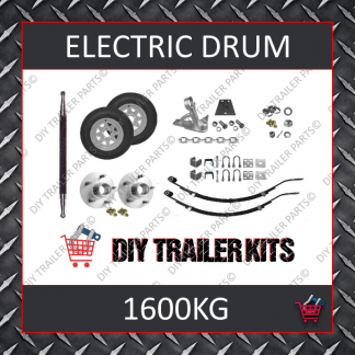 Single Axle Running Gear Kit - Electric Brake 1600kg (Parts Only)