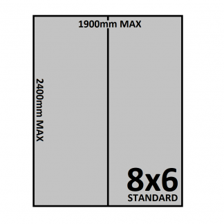 8x6 Trailer Floor - Checkerplate