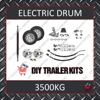 Tandem Axle Running Gear Kit - Electric Brake 3500kg (Parts Only)