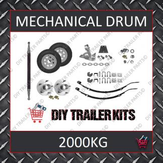 Tandem Axle Running Gear Kit - Mechanical Drum Brake 2000kg (Parts Only)