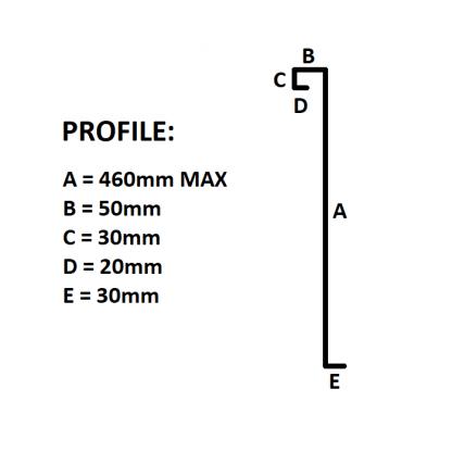 8x6 Trailer Sides - Checkerplate (Pair)