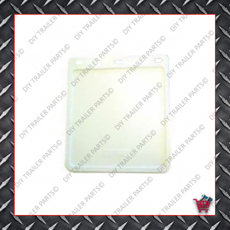 "Trailer Mud Flap - White  (9"" X 10"")"
