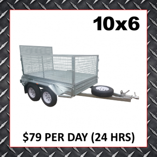 10x6 Caged Trailer Hire