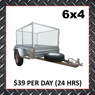 6x4 Caged Trailer Hire