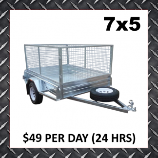 7x5 Caged Trailer Hire