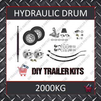Single Axle Running Gear Kit - Hydraulic Brake 2000kg (Parts Only)
