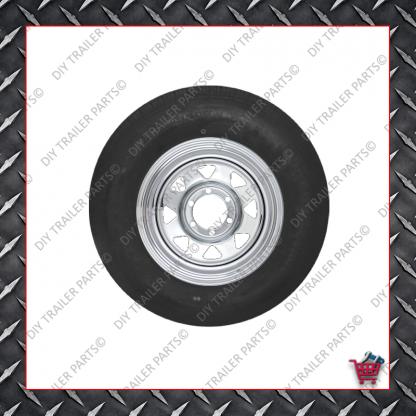 """14"""" Trailer Rim & Tyre - 185R14LT - Chrome - HT"""