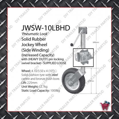 Standard Jockey Wheel (Galvanised) JW1UBG