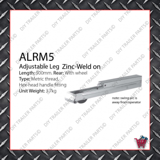 Adjustable Leg 500mm - Metric Thread - Front