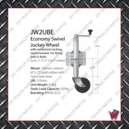 Economy Jockey Wheel (Incl. Clamp) JW1E