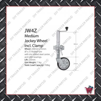 Medium Jockey Wheel (Incl. Clamp) JW4Z