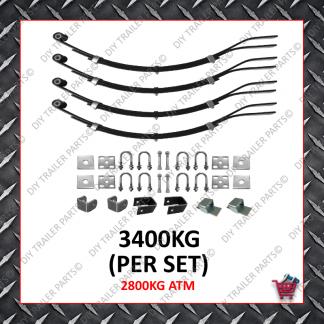Tandem Slipper Spring Set- 45mm Wide - 8mm - 720mm (3 Leaf)