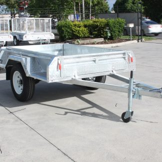 7x4 Box Trailer - Single Axle - Galvanised