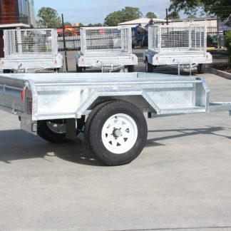 6x4 Box Trailer - Single Axle - Galvanised