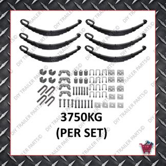 """Roller Rocker Spring Tri-Axle Set - Suit 13-14"""" Wheels (6 Leaf) (Galvanised)"""