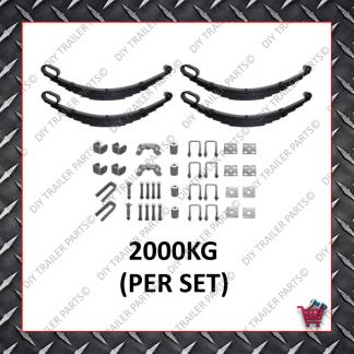 "Roller Rocker Spring Set - Suit 15-16"" Wheels (5 Leaf) (Galvanised)"