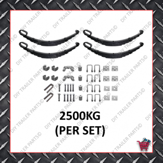 "Roller Rocker Spring Set - Suit 15-16"" Wheels (6 Leaf) (Galvanised)"