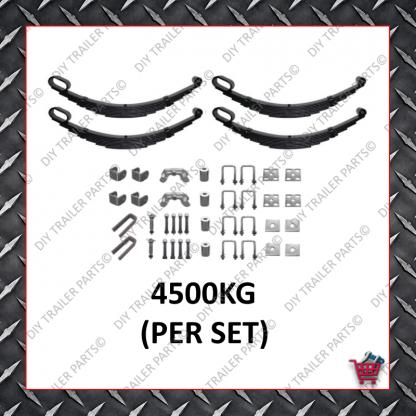 """Roller Rocker Spring Set - Suit 15-16"""" Wheels (9 Leaf) 4.5T"""