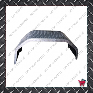 "Trailer Mud Guard - Single Axle - Checkerplate (Suits 13"" to 14"")"
